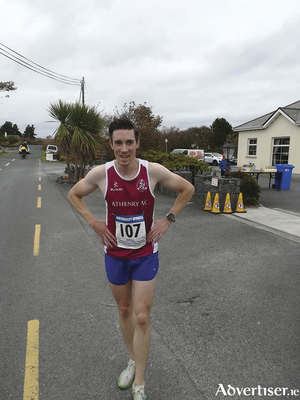 Fergal Walsh, winner of the Carna 10k.