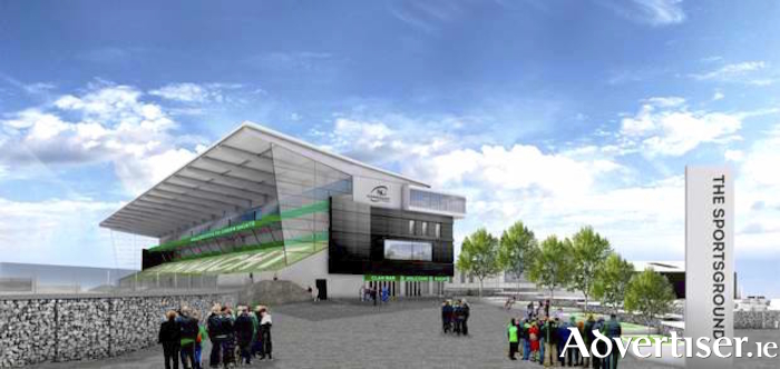 An artist's drawing of what  the new Sportsground will look like.