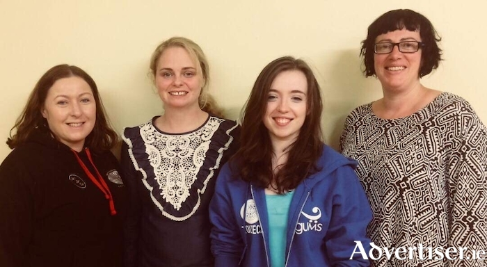 The Cast of Lucy in the Sky: Moira Mahony, Natalie O'Halloran, Delia Keane, and Sarah Fahy.