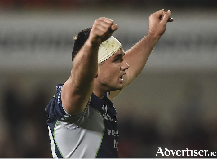 5 October 2018; Cian Kelleher of Connacht celebrates at the final whistle in the Guinness PRO14 Round 6 match between Ulster and Connacht at Kingspan Stadium, in Belfast. Photo by Oliver McVeigh/Sportsfile
