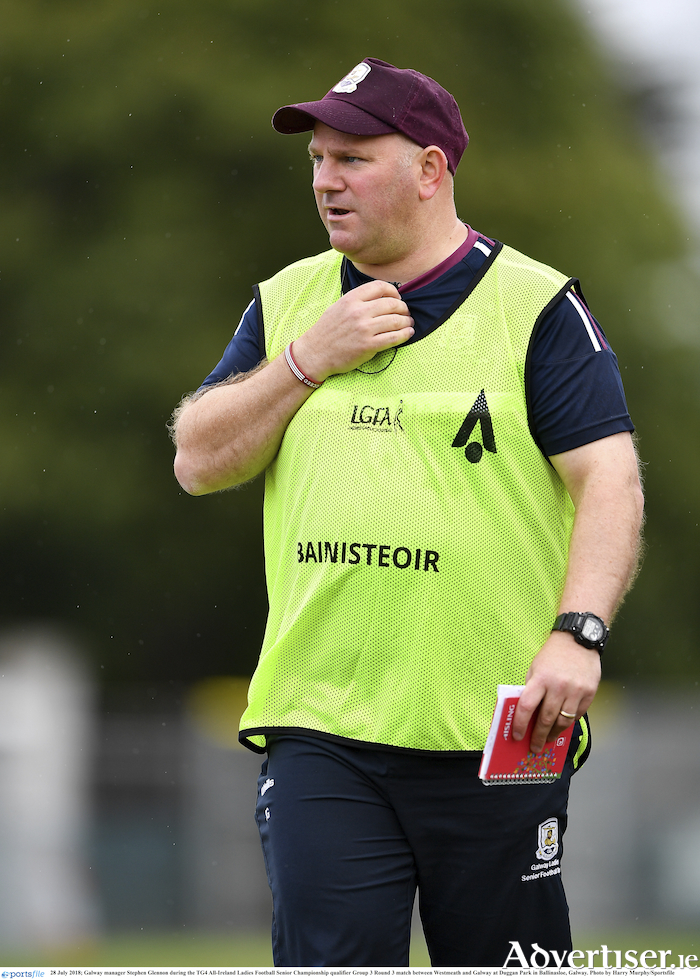 Stephen Glennon, who announced his decision to step down as manager of the Galway Senior Ladies.