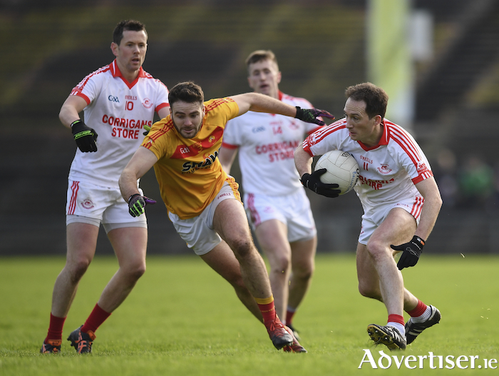 On the run: Alan Dillon and Ballintubber are back in the county final. Photo: Sportsfile