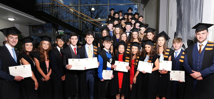 Pictured at the Foroige NUIG graduations were the 33 graduates from Mayo. Photo: Brian Farrell