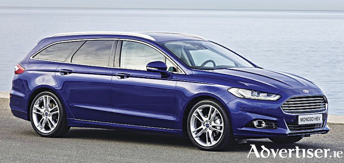 The new Ford Mondeo Hybrid wagon.