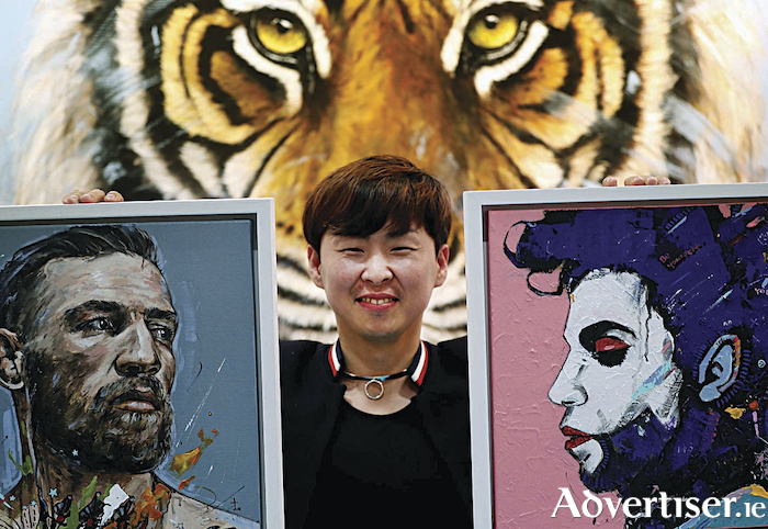 Galway artist Jin Yong, displaying his specially commissioned painting of Conor McGregor and his interpretation of Prince, will be launching a series of new works at  Art Source, Ireland's premier art show, which runs from November 9-11 at the RDS. 