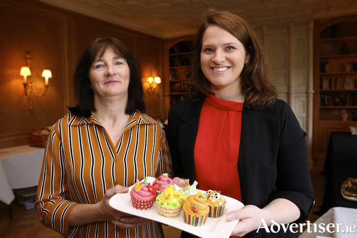 Pauline Ruddy and Bernie McManamon (both from Erris) with the bronze medal winning cupcakes baked by fellow team member Noreen Hegarty at the Sodexo Salon Culinaire 2018. Photo: Silver Image.Pauline Ruddy and Bernie McManamon (both from Erris) with the bronze medal winning cupcakes baked by fellow team member Noreen Hegarty at the Sodexo Salon Culinaire 2018.
