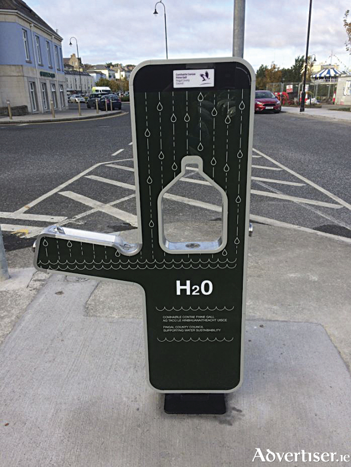 An example of the water stations.