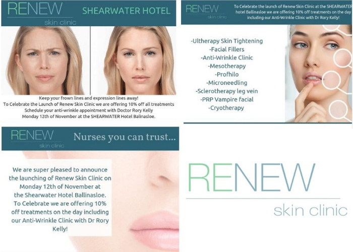 Advertiser ie - Renew Skin Clinic Opens at The Shearwater Hotel and