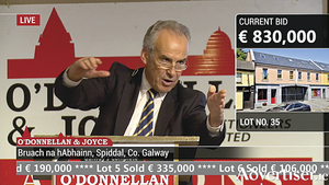 Auctioneer Colm O'Donnellan.