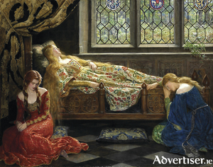 John Collier's painting The Sleeping Beauty.