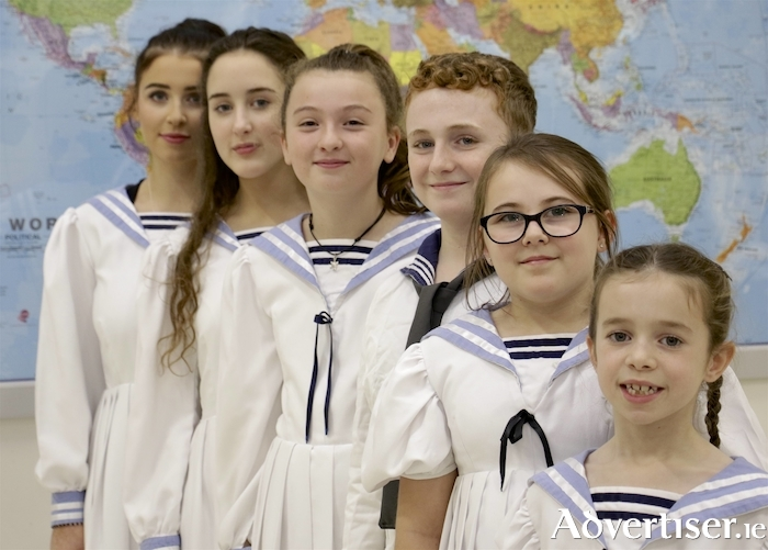 Appearing in 9 Arch Claregalway Musical Society's production of The Sound of Music are (LtoR): Saoirse McCarthy, Alannah Mullins, Katie Larkin, Cameron Heneghan, Lucy Keenan and Faye Greaney. Photo:- Mike Shaughnessy