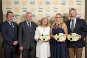 Londis Retailing Excellence Award winners: (L-R) Shane Hopkins, Londis Regional Development Manager, Enda Hiney and Carmel Hiney from Londis Crossmolina, Katie Casey and Gerry Casey from Londis Ballina.