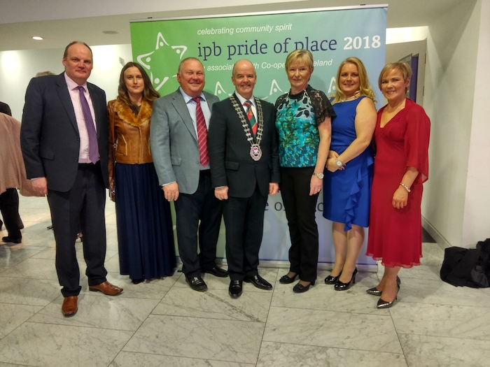 Brilliant Balla win at Pride of Place:  At the Pride of Place awards last Saturday night were: Donagh Gilmartin, Síofra Kilcullen (Mayo County Council), Pat Boyle, Blackie Gavin (Cathaoirleach Mayo County Council), Judy Boyle, Mary Gilmartin and Mary Costello (Mayo County Council).