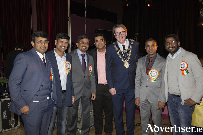 Organisers of the event pictured with the Mayor of Galway Niall McNelis