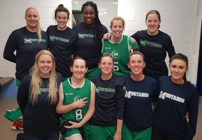 Magic Mustangs: Back: Indre Majauskaite-Gusciuviene, Grainne Flynn, Mercy Okojie, Siobhan Kilkenny, Lorna Moran.