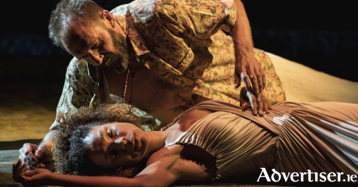 Ralph Fiennes and Sophie Okonedo in Antony and Cleopatra.