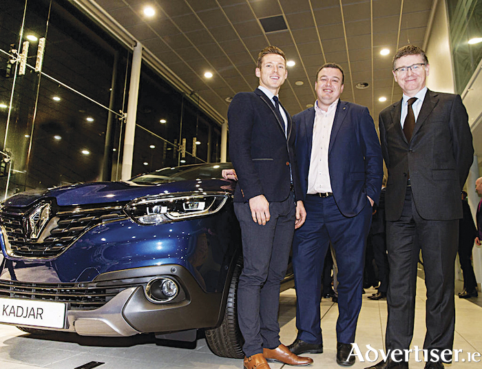 Picture (L-R) at the announcement were Paul Flynn (CEO of Gaelic Players' Association), Patrick Magee (country operations director of Renault Group Ireland), and Tom Ryan (ard stiúrthóir of the GAA).