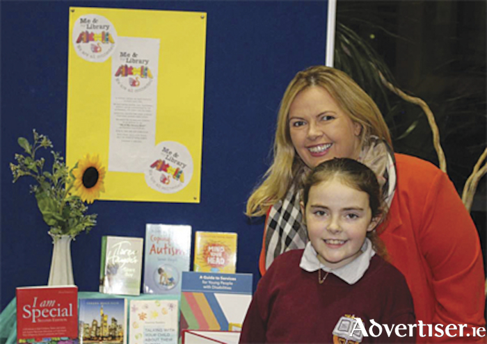 Cllr. Ailish McManus and Leigha at the launch of 'Me and My Library Hour'