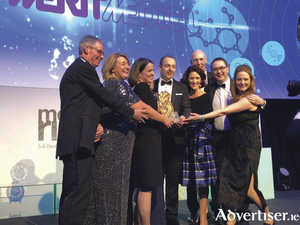 Merit Medical's senior leadership team accepting Company of the Year award from Rachel Shelly, head of Medical Technologies, IDA Ireland.