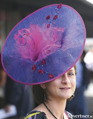 Sandra Divilly of the Galway Hat pictured at the Galway races with one of the hats from her store which goes exclusively online in January.
