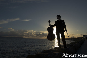 Daniel Muller-Schott and his cello. Photo:- Andrew Downes