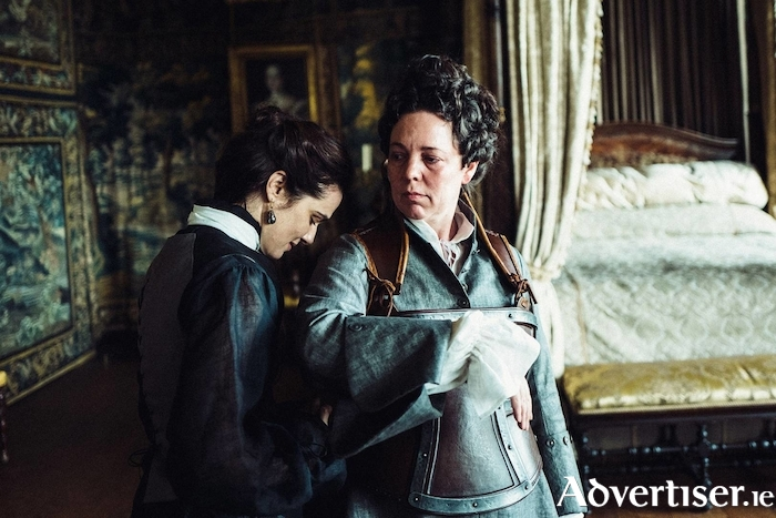 Rachel Weisz and Olivia Colman in The Favourite.