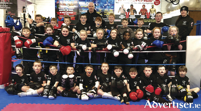 A group of junior and senior members from the Galway Black Dragon Kickboxing Club  were successful at a grading in the gym recently. Junior Class,  back row L-R: Patrick Ward, Aaron Flatley, Zach Duffy, Dylan Ward, 8th Dan Black Belt Master Pete Foley (examiner), Finn Foley, Jean Harlamovs, Ross Mc Donagh, Darren Van Stream, Patrick Ward, 4th Dan Black Belt Clodagh Foley (examiner); middle row, Eric Meureta, Aine Kelly, Annabelle Kenny, Lily Robinson, Zoe McGuire, Willow Keaney, Emith Daryl, Sophie Cooke, Shelby Barrett, Molly Fitzpatrick; front row, Noreen Ward, Noah Mulryan, Oisin Mc Grath, Joey Keaney, Nik Onos, Sean Mulryan, Oisin Foyle, Frank Killilea, Brandon Mc Donagh, Pat Ward, Jack Cahill.