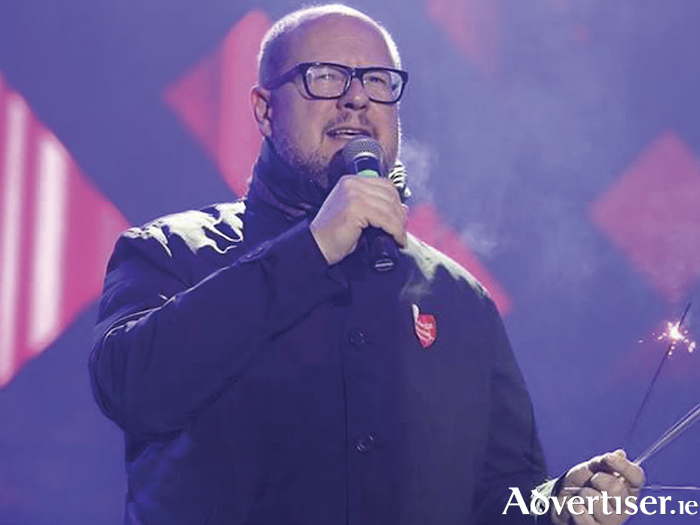 Mayor of Gdansk Pawel Adamowicz speaking during the 27th finale of the Great Orchestra of Christmas Charity in Gdansk, Poland, on Sunday.