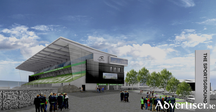 Artists view of the proposed new Sportsground stadium.