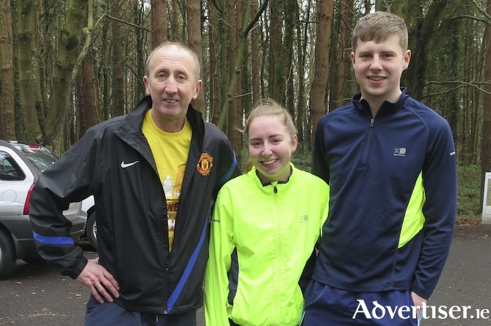 Martin, Laura and Daniel McHale, Clarkes Road took part in the Ballina GOAL MILE on Christmas morning in Belleek.