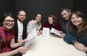 At the launch of Theatre 57 in the Electric, Monday night were (l-r) Maria Tivnan, Eoin McGrath (The Electric) Roisin Stack, Emma O'Grady, Féilim ÓhEolain and Sarah O'Toole.  Photo:-Mike Shaughnessy