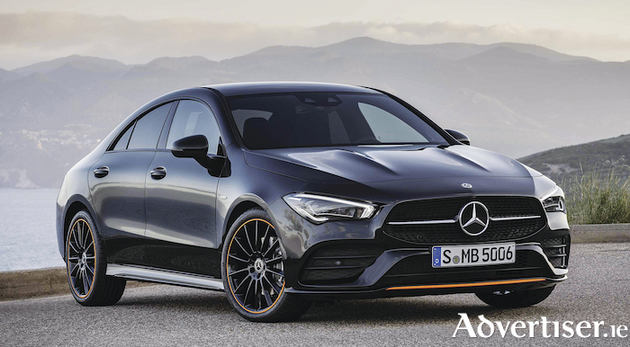 The new Mercedes Benz CLA. This Edition 1 model is not to Irish specification, and will not be offered here.