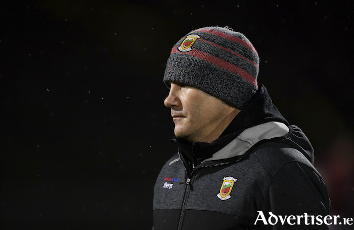 A night for the cap: James Horan got his second coming as Mayo manager off to a winning start in the league. Photo: Sportsfile