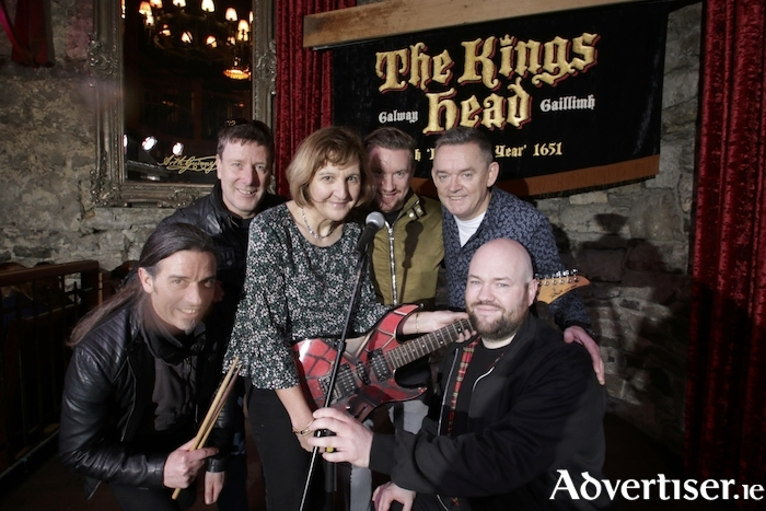 "Announcing details of ""Galway Rocks For Hospice"" a fundraising concert at the Kings Head Bar on Friday February 8th  in aid of Galway Hospice were (L-R) Kelvin Gillmor (KIF),  Turlough Moore (Pyramid), Mary Nash (Galway Hospice), Alan Feeney (Tightrope), Paul Grealish (Kings Head) and Paul Rowland (KIF). Photo:- Mike Shaughnessy"