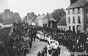 Funeral of Fr Michael Griffin at Foster Street. He was finally buried in the grounds of St. Brendan's Cathedral Loughrea