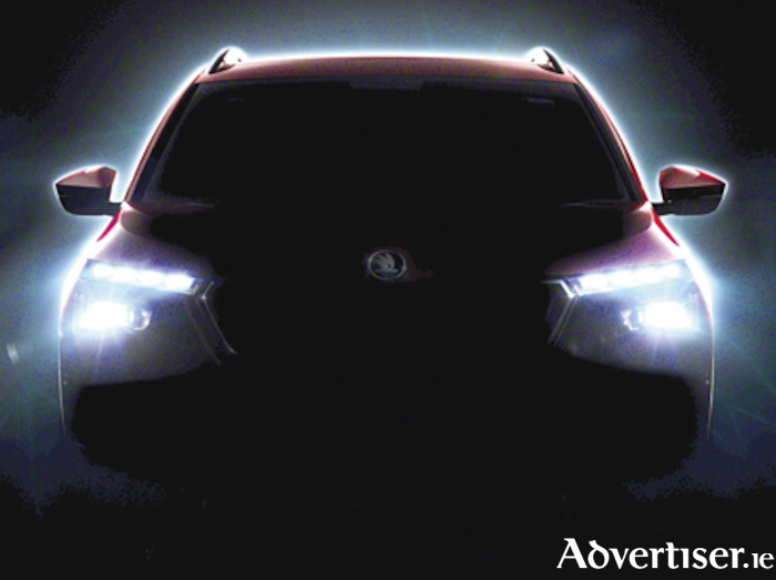 Teaser silhouette of new Skoda suv model