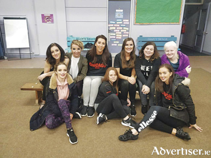 Athlone Musical Society Chicago cast members take a break from rehearsals as they prepare for opening night in the Dean Crowe Theatre