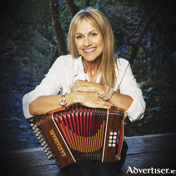 The talented Sharon Shannon who plays Roscommon Arts Centre on February 16