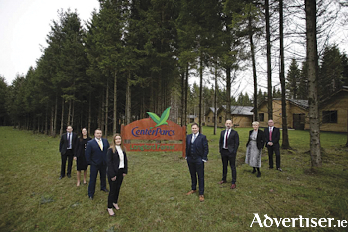 The recently completed management team at Center Parcs Longford Forest