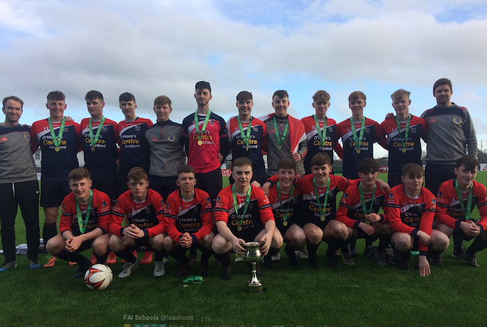 National Champions: The St Joseph's Foxford team who won the FAI Schools John Murphy Cup Final on Wednesday afternoon.