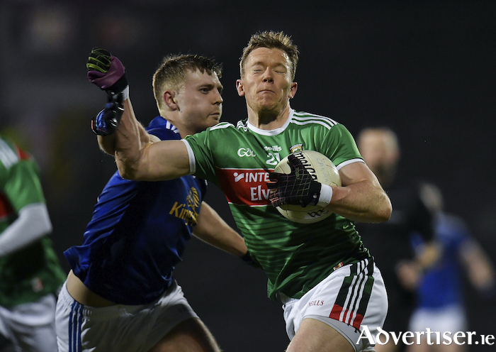 On the move: Donal Vaughan breaks a tackle against Cavan. Photo: Sportsfile