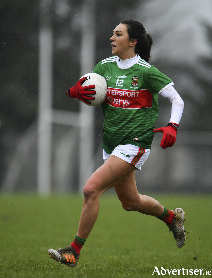 Kelly's Eye: Niamh Kelly and her Mayo team-mates were beaten by Donegal on Sunday in the league. Photo: Sportsfile