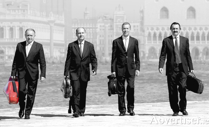 Quartetto di Venezia. Try not to think of Reservoir Dogs and the song 'Little Green Bag' when looking at this photo.