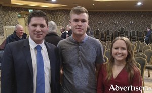 Matt Carthy MEP; Athenry-Oranmore candidate Louis O'Hara; and city councillor Mairéad Farrell.