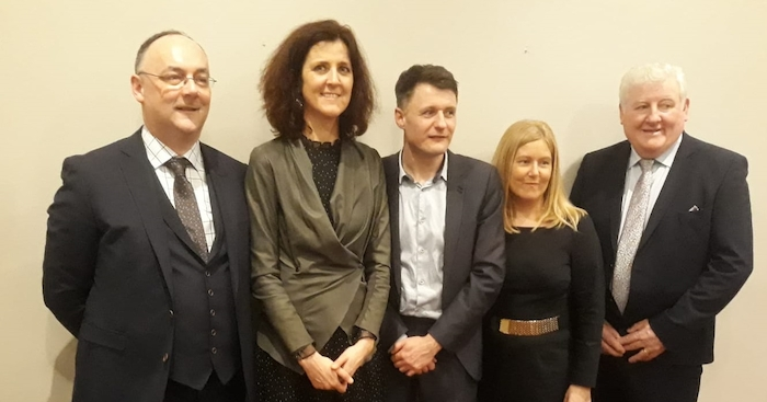 Fine Gael candidates for the Ballina Municipal District in the upcoming local elections with Seantor Michelle Mulherin: Kieran Gill, Cllr Jarlath Munnelly, Aileen Horkan and John O'Hara.