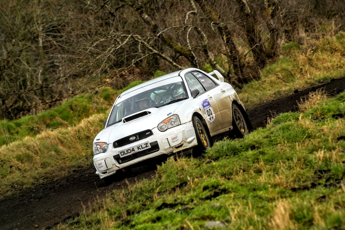 Sean McHugh and Kathleen Kennedy in action in the Galway International Rally. Photo: Alan Maguire.