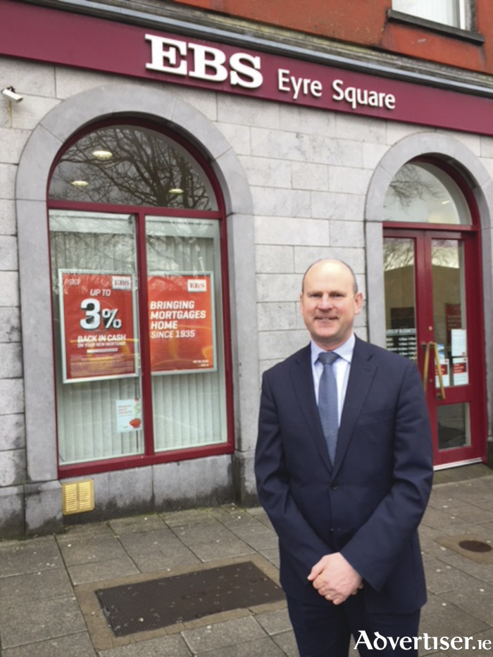 Michael Murray, Business Development Manager outside the EBS Office Eyre Square, Galway.