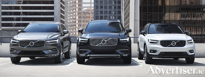 The Volvo SUV line-up.