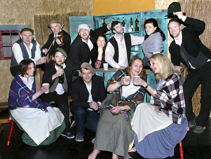 "Members of the cast of Ballina's Riverside Theatre Group's forthcoming production of JM Synge's ""The Playboy of the Western World"" which takes place in Ballina Arts Centre on Fri/Sat/Sun/ 22/23/24 nightly at 8pm. Photo: Henry Wills."