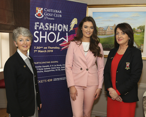 Ready to walk the catwalk: At the launch of Castlebar Golf Clubs fashion show were Teresa Reddington (Lady President), with Aisling Duffy, Catwalk model agency and Barbra Byrne (Lady Captain)